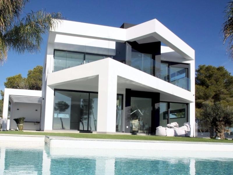 Villa de style moderne à vendre à Moraira Camarocha Costa Blanca, Espagne